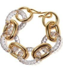lizzie fortunato jewels mirrored sea bracelet - gold