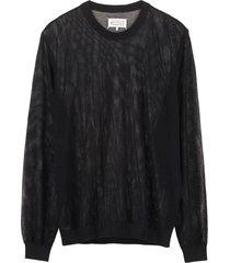 maison margiela cotton mesh sweater