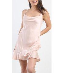 vestido dream satin rosa night concept