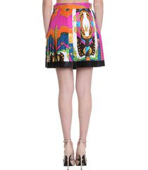 versace skirt in multicolor silk