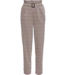 pantaloni in tessuto jacquard (beige) - bodyflirt