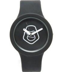 pack reloj  correa adicional fucsia/negro gorillaz