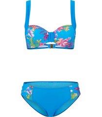 bikini con ferretto sostenibile (set 2 pezzi) (blu) - bpc selection