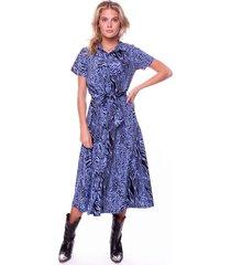 dalia zebra shortsleeve maxi shirt dress