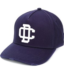 dsquared2 cargo navy blue baseball cap with white logo