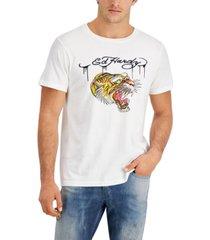 ed hardy men's retro tiger logo graphic t-shirt
