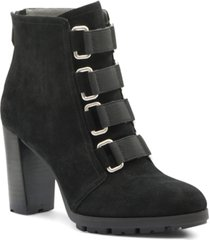 adrienne vittadini women's theresa suede booties women's shoes