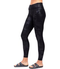 terez camo-foil print uplift leggings