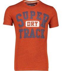 superdry t-shirt oranje ronde hals print