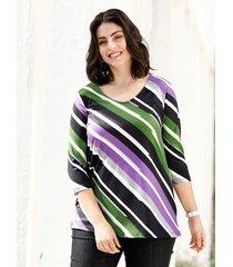 shirt m. collection zwart::groen::paars
