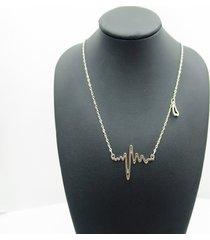 collana a catena dolce cardiogram peach heart pendant clavicalis collana gioielli di moda per le donne