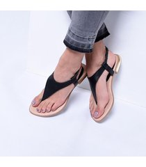 sandalia triangular odin negro