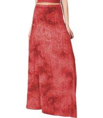 falda larga bristol lente lycra rojo maria paskaro