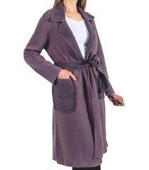 abrigo buffy gris guinda
