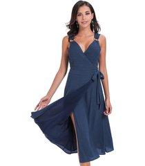vestido tirantes hebilla azul nicopoly