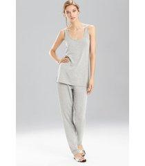 natori lounge tapered pants, women's, grey, size xs natori