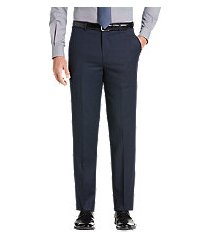 travel tech slim fit micro stripe flat front men's suit separate pants by jos. a. bank