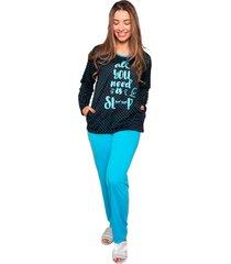 pijama bella fiore modas em poã¡ poliane verde ãgua - verde - feminino - poliã©ster - dafiti