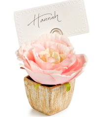 martha stewart collection royal blush place card holder, created for macy's