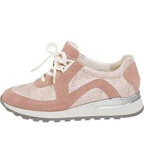 skor för breda fötter waldläufer rosa