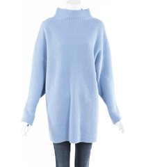 co. wool cashmere knit sweater blue sz: m