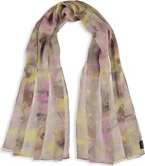 fraas women's floral watercolor silk scarf - salmon