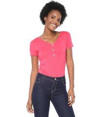 blusa lunender botões rosa - kanui