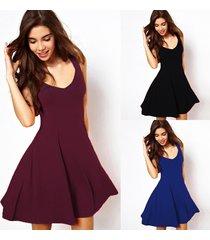 wine red prom dresses solid casual elegant dresses women sleeveless party ska
