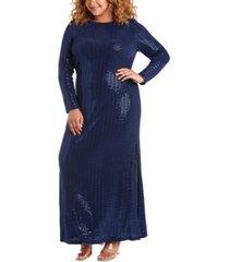 morgan & company trendy plus size disco dot gown