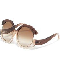 bardot angular acetate frame oversized sunglasses