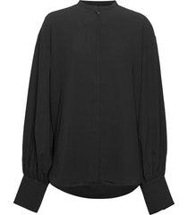 assa blouse lange mouwen zwart totême