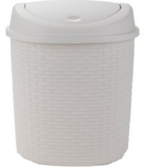 mind reader 21l rattan trash bin