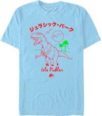 fifth sun jurassic park men's kanji isla nublar short sleeve t-shirt