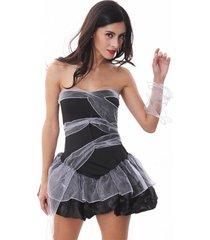 vestiti da cerimonia nuziale della sposa di cosplay di halloween per le donne