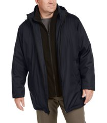 calvin klein men's big & tall ripstop jacket with fleece bib