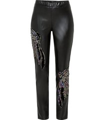 pantaloni in similpelle con paillettes (nero) - bodyflirt boutique