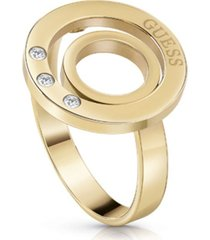 anillo circles dorado guess jewellery