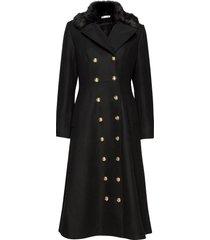 abbey coat wollen jas lange jas zwart ida sjöstedt
