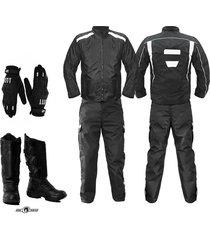 dotacion mensajero moto chaqueta moto guantes pantalon botas moto