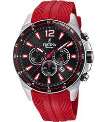 reloj festina modelo f20523/1 rojo hombre