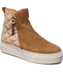 vanna mid zip boot shoes boots ankle boots ankle boot - flat beige gant