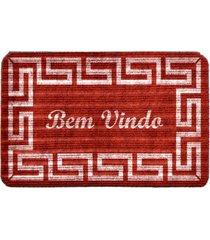 capacho carpet bem vindo rustico vermelho ãšnico love decor - vermelho - dafiti