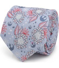 star wars men's floral icons tie