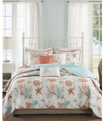 madison park pebble beach 6-pc. full/queen coverlet set bedding