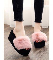 zapatillas de felpa