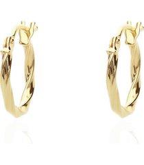 orecchini a cerchio in oro giallo intrecciato 10 mm per donna