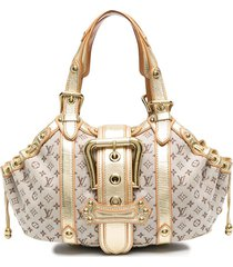louis vuitton 2000s pre-owned monogramed hand tote bag - gold