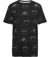 crew neck tee with allover print t-shirts short-sleeved svart scotch & soda