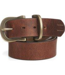 saddle-leather jeans belt