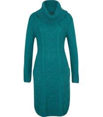 abito in maglia con tasche (petrolio) - bpc bonprix collection